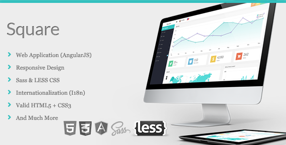 Square v1.6 – Responsive Admin App with AngularJS Free Download ...