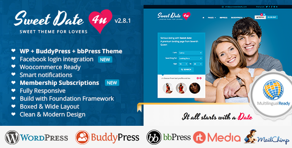 Lovestory Dating Wordpress Theme Free Download