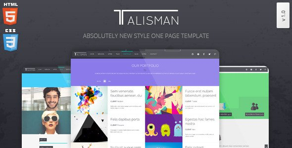 Talisman-v1.1-One-Page-Theme