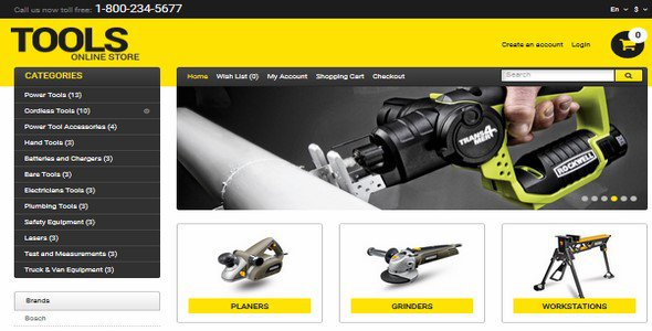 tools opencart template templatemonster 47871 free download