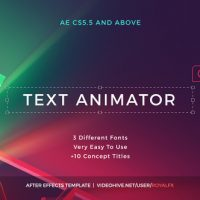 VIDEOHIVE TEXT ANIMATOR 01  CREATIVE MODERN TITLES FREE DOWNLOAD