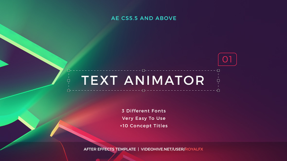Text Animator 01 Creative Modern Titles