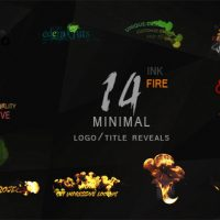 VIDEOHIVE MINIMAL INK&FIRE LOGO/TITLE REVEALS PACKAGE FREE DOWNLOAD