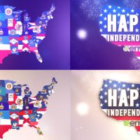 VIDEOHIVE USA STATES FLAG LOGO FREE AFTRE EFFECTS TEMPLATE