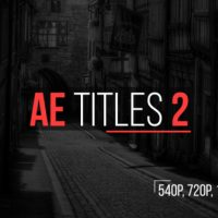 VIDEOHIVE AE TITLES 2 FREE AFTER EFFECTS TEMPLATE