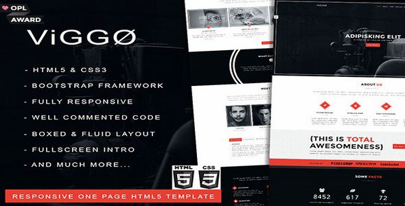 VIGGO v1.0 – Responsive One Page HTML5 Template Free Download - Free ...