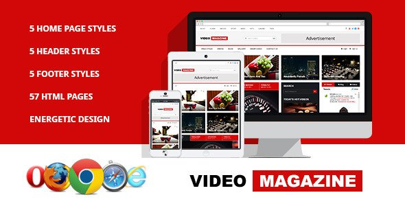 Video Magazine – HTML Magazine Template Free Download - Free After ...