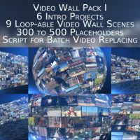 VIDEOHIVE VIDEO WALL PACK I FREE AFTER EFFECTS TEMPLATE