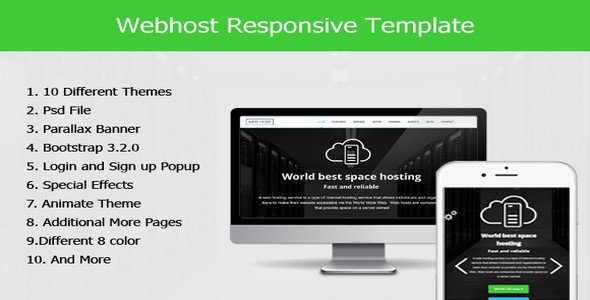 Web Host Responsive HTML5 Template Free Download - Free After ...