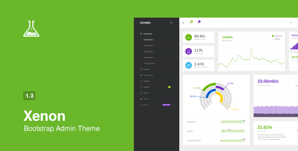 Xenon v1.3 – Bootstrap Admin Theme with AngularJS Free Download ...