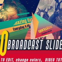 VIDEOHIVE BROADCAST SLIDER FREE AFTER EFFECTS TEMPLATE