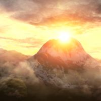 VIDEOHIVE SKY AND MOUNTAINS LOGO FREE DOWNLOAD