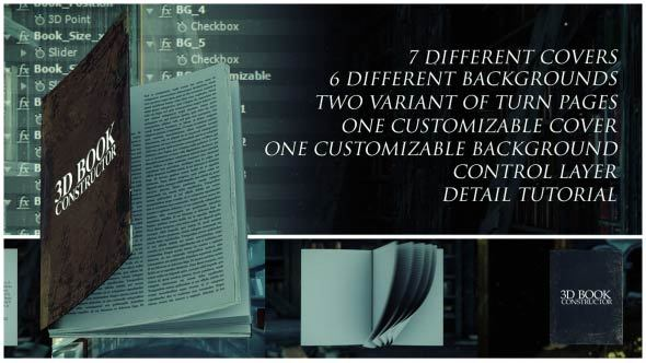 VIDEOHIVE 3D BOOK CONSTRUCTOR FREE DOWNLOAD - Free After