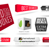 VIDEOHIVE 3D TEXT & LOGO BOXES FREE DOWNLOAD