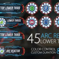 VIDEOHIVE 45 ARC REACTOR LOWER THIRDS FREE AFTER EFFECTS TEMPLATE