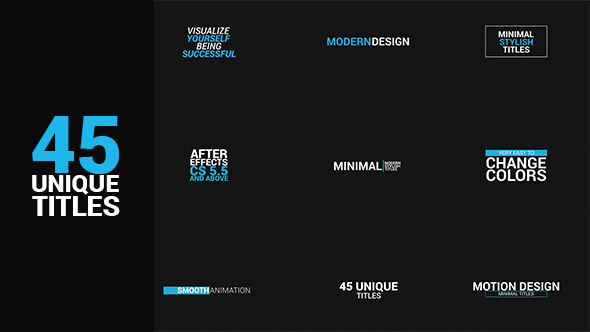 Videohive 45 titles package free download free after for Free after effects titles