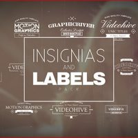 VIDEOHIVE INSIGNIAS AND LABELS PACK FREE DOWNLOAD