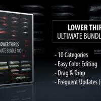 VIDEOHIVE LOWER THIRDS – ULTIMATE BUNDLE 100+ FREE DOWNLOAD