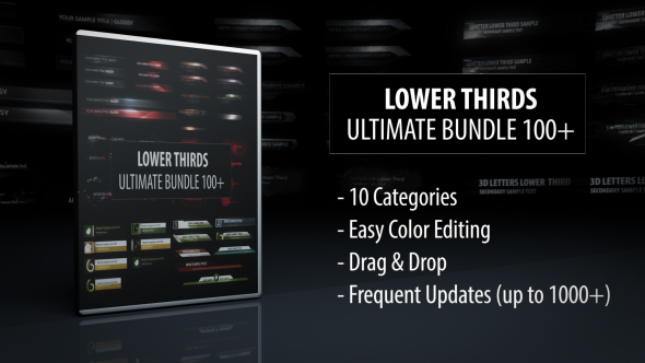 Lower Thirds Ultimate Bundle Preview