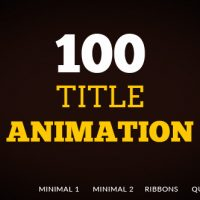 VIDEOHIVE 100 TITLE ANIMATION FREE DOWNLOAD