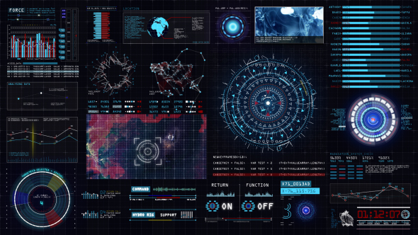 Sci-fi Interface HUD 15089902