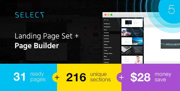 Select v3.0 Landing Page Set with Page Builder Free Download ...