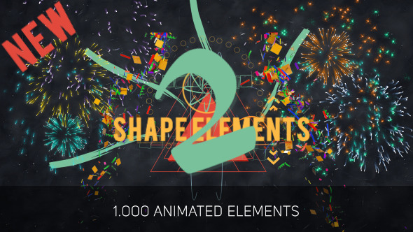 VIDEOHIVE SHAPE ELEMENTS 2 - AFTER EFFECTS PROJECT FREE