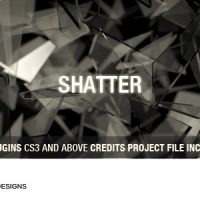 VIDEOHIVE SHATTER FREE AFTER EFFECTS TEMPLATE