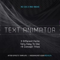 VIDEOHIVE TEXT ANIMATOR 02 STYLISH CLEAN TITLES FREE DOWNLOAD