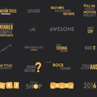 VIDEOHIVE TEXTS ANIMATION BUNDLE FREE DOWNLOAD