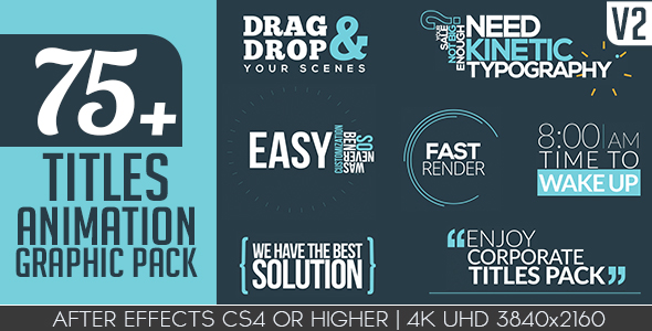 Titles Animation Graphic Pack