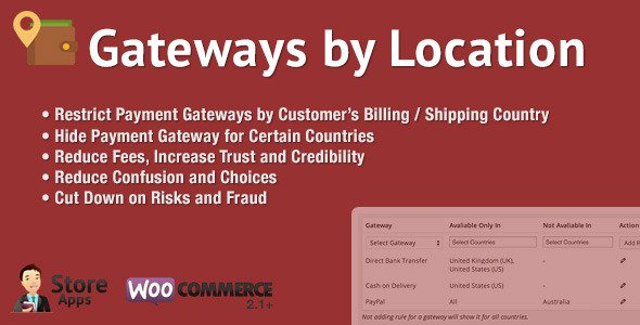 WooCommerce Gateways by Location v1 2 6 Free Download - Free