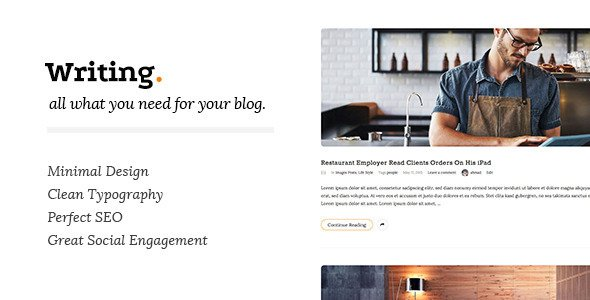 Writing-Clean-Minimal-Blog-WordPress-Theme