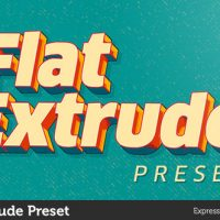 VIDEOHIVE FLAT EXTRUDE PRESET FREE DOWNLOAD