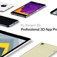 VIDEOHIVE PROFESSIONAL 3D APP PROMO TOOLKIT FOR ELEMENT 3D FREE