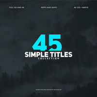 VIDEOHIVE 45 SIMPLE TITLES FREE AFTER EFFECTS TEMPLATE