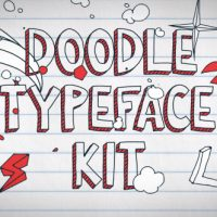 VIDEOHIVE DOODLE TYPEFACE KIT FREE DOWNLOAD