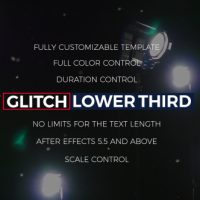 VIDEOHIVE GLITCH LOWER THIRDS & TITLES FREE DOWNLOAD