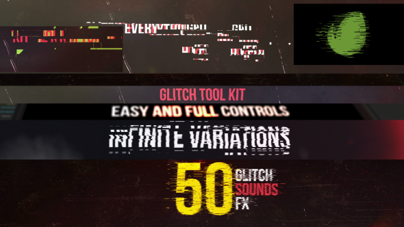 videohive glitch tool kit free after effects template free after