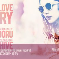 VIDEOHIVE LOVE STORY FREE AFTER EFFECTS TEMPLATE