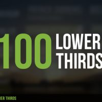 VIDEOHIVE 100 LOWER THIRDS FREE DOWNLOAD