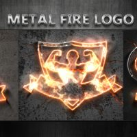 VIDEOHIVE METAL FIRE LOGO FREE DOWNLOAD