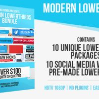 MODERN LOWER THIRDS BUNDLE (10 IN 1) – AFTER EFFECTS PROJECT (VIDEOHIVE)