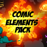 VIDEOHIVE COMIC ELEMENT PACK FREE DOWNLOAD