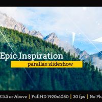 VIDEOHIVE EPIC INSPIRATION PARALLAX SLIDESHOW FREE DOWNLOAD
