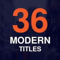 VIDEOHIVE 36 MODERN TITLES FREE DOWNLOAD