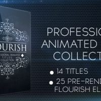 FLOURISH TITLES COLLECTION – AFTER EFFECTS PROJECT (VIDEOHIVE)
