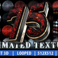75 ANIMATED TEXTURE (ELEMENT 3D) – AFTER EFFECTS PROJECT (VIDEOHIVE)