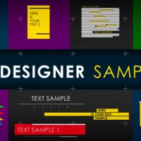 VIDEOHIVE 15 DESIGNER SAMPLES (PACK)