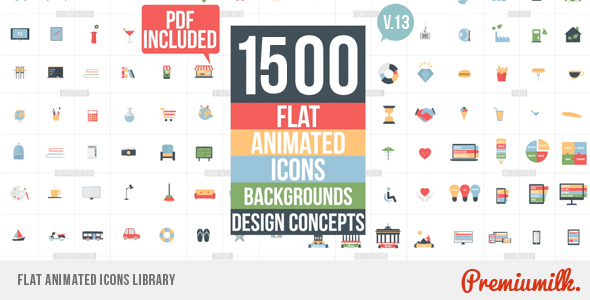 VIDEOHIVE FLAT ANIMATED ICONS LIBRARY FREE DOWNLOAD - Free